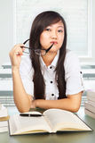 Beautiful female student looking to camera Royalty Free Stock Image