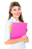 Beautiful female student Stock Images