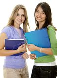 Beautiful female students Royalty Free Stock Images