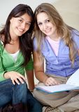 Beautiful female students Stock Images