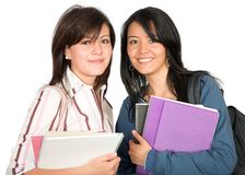 Beautiful female students Stock Photography