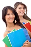 Beautiful female students Stock Photo