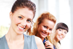 Beautiful female students Royalty Free Stock Photo