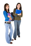 Beautiful female students - full body Royalty Free Stock Photo