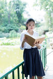 Beautiful female students in school Royalty Free Stock Images