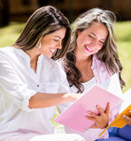 Beautiful female students Stock Image