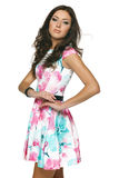 Beautiful female in summer dress Royalty Free Stock Photos