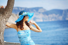 Beautiful female in summer vacation Royalty Free Stock Photography