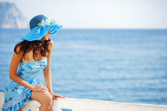Beautiful female in summer vacation Stock Photo