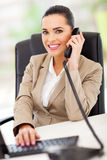 Beautiful switchboard operator Royalty Free Stock Image