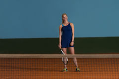 Beautiful Female Tennis Player Royalty Free Stock Images