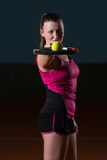 Beautiful Female Tennis Player Stock Photography