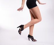Beautiful Female Torso Perfect Shoes Dancing Joyfully Stock Photo