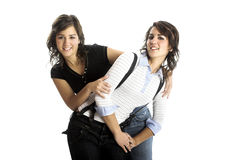 Beautiful female twins Royalty Free Stock Images