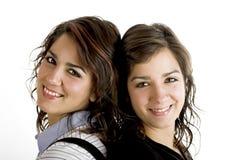 Beautiful female twins Stock Photography