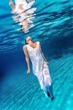 Beautiful female underwater Royalty Free Stock Photos