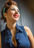 Beautiful female in vintage fashion Stock Photography
