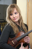 Beautiful female violinist Royalty Free Stock Photo