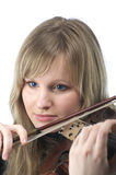 Beautiful female violinist portrait Royalty Free Stock Photos