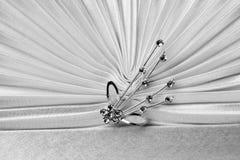Beautiful female white bag detail Stock Photography