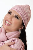 Beautiful female in winter fashion Stock Photos