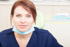 Beautiful female or woman dentist doctor Stock Photos