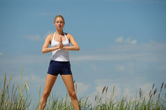 Beautiful female workout Royalty Free Stock Images