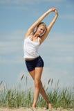 Beautiful female workout stock photography