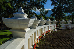 Beautiful fence. Of Chiang Mai, Thailand Royalty Free Stock Photography