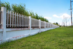 Beautiful of fence factory in industrial estate,green field and Royalty Free Stock Photos