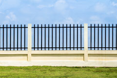 Beautiful of fence factory in industrial estate,green field and Stock Image