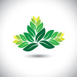 Beautiful fern leaves - eco concept vector Royalty Free Stock Photos