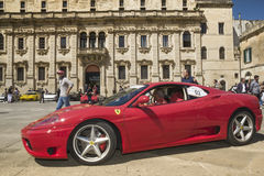 Beautiful ferrari modena profile lecce Stock Image
