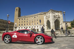 Beautiful ferrari 458 profile lecce Stock Images
