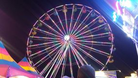 Beautiful Ferris wheel stock photo