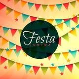 Beautiful festa junina background. Vector Stock Image