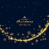 Beautiful festival glitter and snowflakes christmas background. Illustration Royalty Free Stock Photography