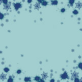 Beautiful festive abstract background with snowflakes and shining stars. Royalty Free Stock Photo