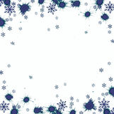 Beautiful festive abstract background with snowflakes and shining stars. Stock Images