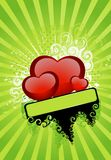 Beautiful festive background. With hearts for a greeting-card Royalty Free Stock Image