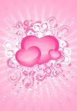 Beautiful festive background. With hearts for a greeting-card Royalty Free Stock Images