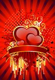 Beautiful festive background. With hearts for a greeting-card Royalty Free Stock Photo