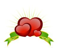 Beautiful festive background. With hearts for a greeting-card Stock Images