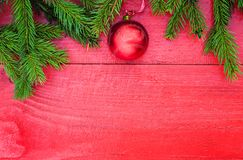 Beautiful festive background of fragrant green fir tree branches Stock Photos