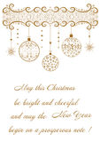 Beautiful festive background with regards to holiday Merry Christmas Stock Images