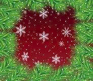 Beautiful festive background with spruce branches. Illustration Royalty Free Stock Photo