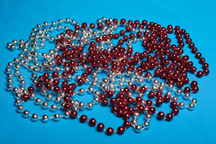 Beautiful, festive beads. Royalty Free Stock Photo