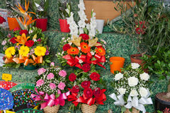 Beautiful festive bouquets Stock Photos