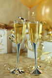 Beautiful Festive Champagne Flutes Royalty Free Stock Photography