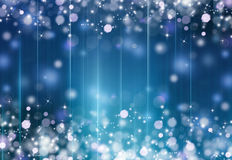 Beautiful festive fantasy. Glittery beautiful bokeh background with stars Stock Images